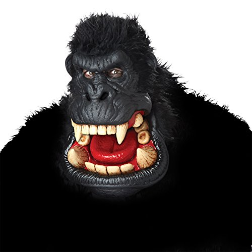 UHC Giant Killa Gorilla King Kong Ape Animal Theme Party Halloween Costume Mask (Hockey Mask Halloween Costume)