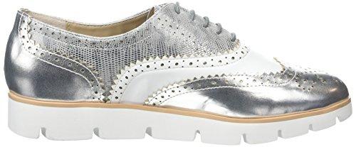 La Strada Silver/White Lace Up Shoe - Zapatillas Mujer Plateado - Silber (1342 - silver)
