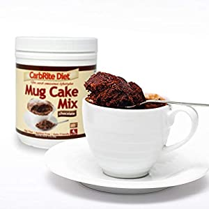 Carbrite Diet Chocolate Mug Cake Mix 4g Net Carbs - For Keto Low Carb Diets - Maltitol Free - Ready In Under 90 S Chocolate Cake 12 Servings from Universal Nutrition