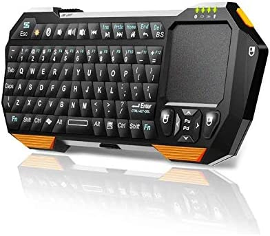 Black Wireless Mini Ultra Slim Keyboard and Mouse for Panasonic Smart TV TX-TX-60ASW654 L55WT50E TX-TX-L55ETW5 L55DT50E