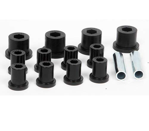 Daystar, Jeep CJ Polyurethane Spring Shackle Bushings Rear, fits CJ5/7/8 1976 to 1986 4WD, KJ02003BK, Made in America ()