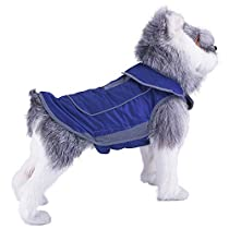 ThinkPet Dog Outdoor Jacket Warm Waterproof Canine Coat Cold Weather Resistant Winter Adventure Gear with Reflective Strips