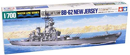 (Tamiya 1/700 Us Navy Battleship Bb62 New Jersey # 31614)