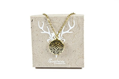 Eupterrae Synergy Flower Pendant Necklace Aromatherapy Essential Oil Diffuser Locket Jewelry with 3PCS Refill...