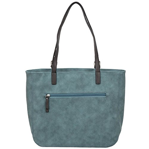 Tom Tailor Denim Tamia Shopper Borsa tote 50 cm grau