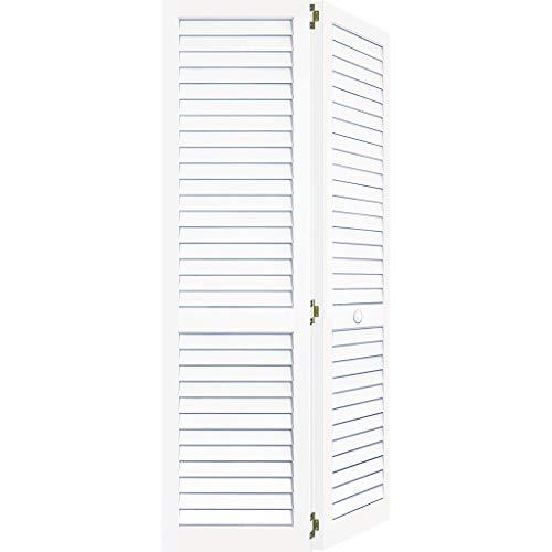 Closet Door, Bi-fold, Louver Louver Plantation White -