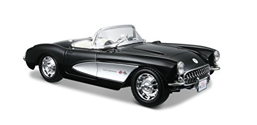 Maisto 1:24 Scale 1957 Chevrolet Corvette Diecast Vehicle (Colors May -