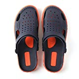 AIMIGAO Soft Slides Water Shoes Outdoor Unopen Toe Slippers for Men