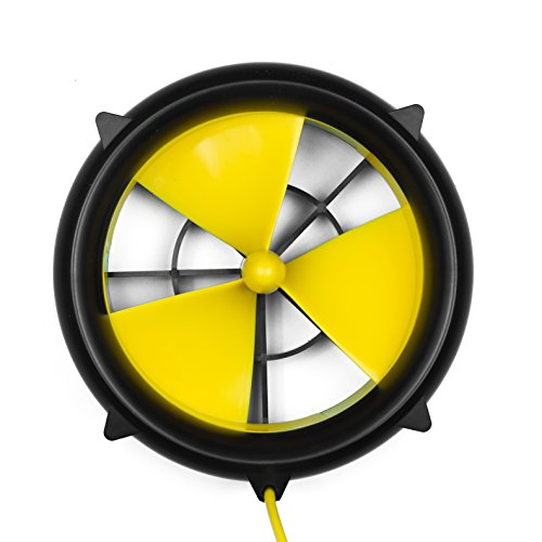 Waterlily Turbine Charger - A Portable Water and Wind Turbine Charger to Charge All USB Devices (Phone Wind Charger)
