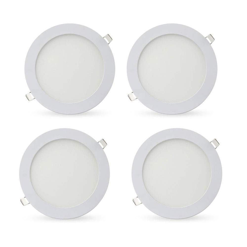 LED Recessed Lighting Retrofit, 6-inch 15 Watt 4500K Neutral White Ultra-Thin LED Ceiling Can Light Downlight Easy Installation-4 Pack