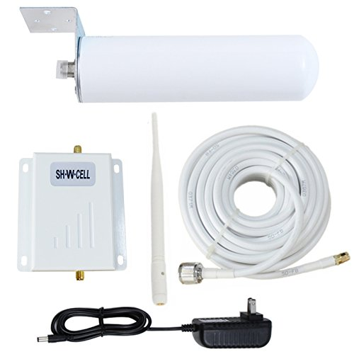 at&T T-Mobile Cell Phone Signal Booster 4G LTE Band12/17 Cell Phone Signal Amplifier at T Cell Phone Booster for Home Mobile Signal Repeater SHWCELL with Indoor Whip + Outdoor Omni (Cell Phone Extender)