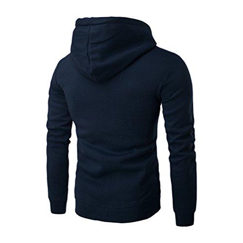 Sweat Pullover Capuche Hoodies Zipper À Hiver Automne shirt Bleu Homme Longues Manches Sweatshirt Veste Zkoo Sweat xSgq7E00