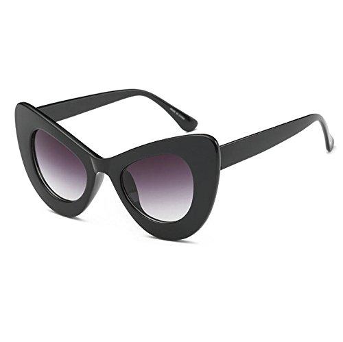 Rahmen Sonnenbrille Sexy KXLEB Frauen Beliebte Sonnenbrille Oval Katzenaugen Damen Retro Tonalidades Vintage C4 Acetat C5 qwp8U4pxa