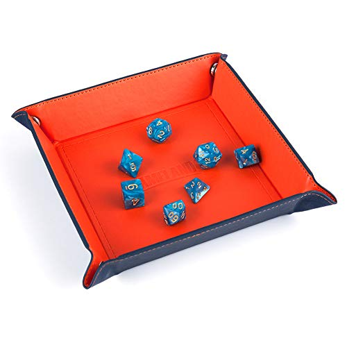 GAMELAND Dice Folding Tray, Dice Box, Dice Holder, Storage Box for for RPG Table Games Folds Flat, Fits in Board Game Box for Roleplaying RPG