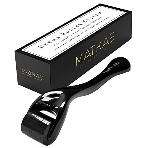 Kit Scalp Therapy (MATKAS Derma Roller For Face, 540 Ultra Titanium Needles, Non-Invasive Powerful Skin Therapy for Home Use, Facial Care, Cosmetic Needling Instrument, 0.25 mm. Includes Storage Case.)
