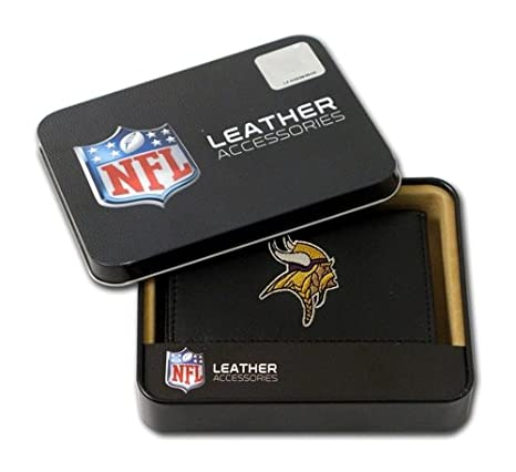 Image Unavailable. Image not available for. Color  Minnesota Vikings  Embroidered Leather Tri-Fold Wallet be6b819b2