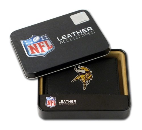 Minnesota Vikings Embroidered Leather Tri-Fold Wallet