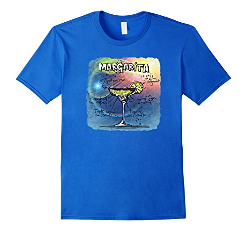 Mens Margarita Recipe T-Shirt XL Royal Blue (Blue Margarita Recipe)