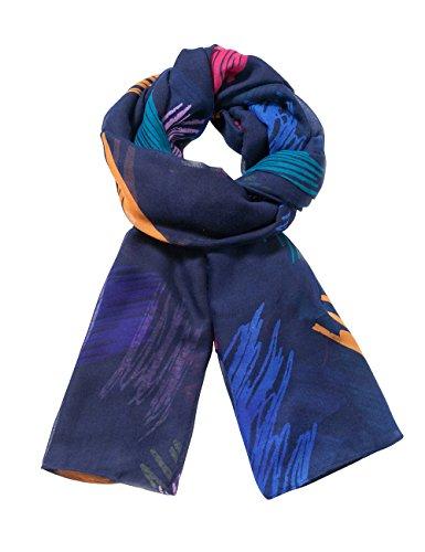 Wqnycuns Blue Sciarpe Foulard Marino Desigual Da Donna 5001 qnf0ZT6