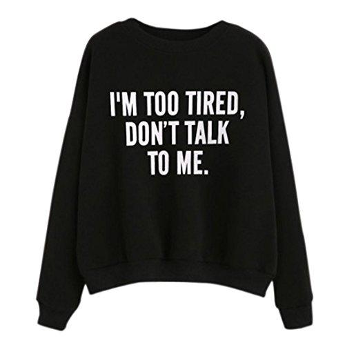 Sumen Teen Girls Round Neck Funny Letter Print Long Sleeve Pullover Teens Casual Sweatshirt