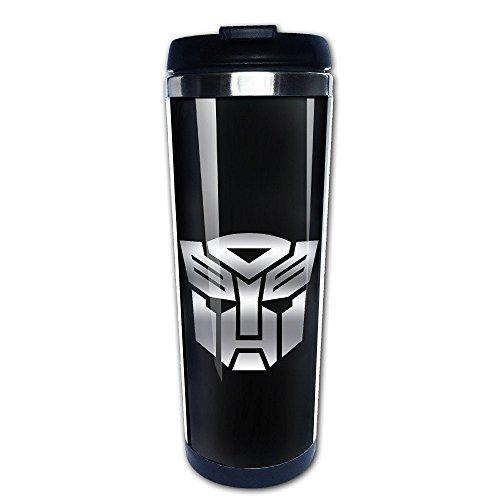 Beaufiy Transformers Autobot Platinum Logo Stainless Steel Travel Tumbler Coffee Mug Black