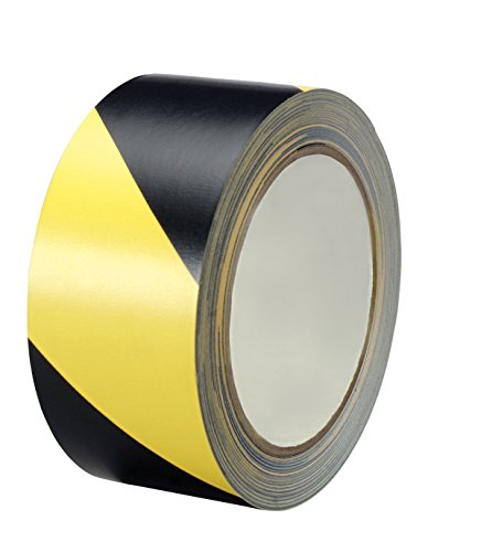 (Black & Yellow Hazard Warning Safety Stripe Tape (2