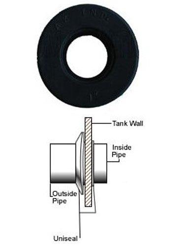 1'' UNISEAL Flexible Tank Adapter (Bulkhead) - 5 Pack