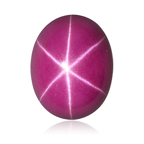 (2.41-2.63 Cts of 9x7 mm Oval Cabochon Synthetic German Lab Created Ruby ( 1 pc ) Loose Gemstone )