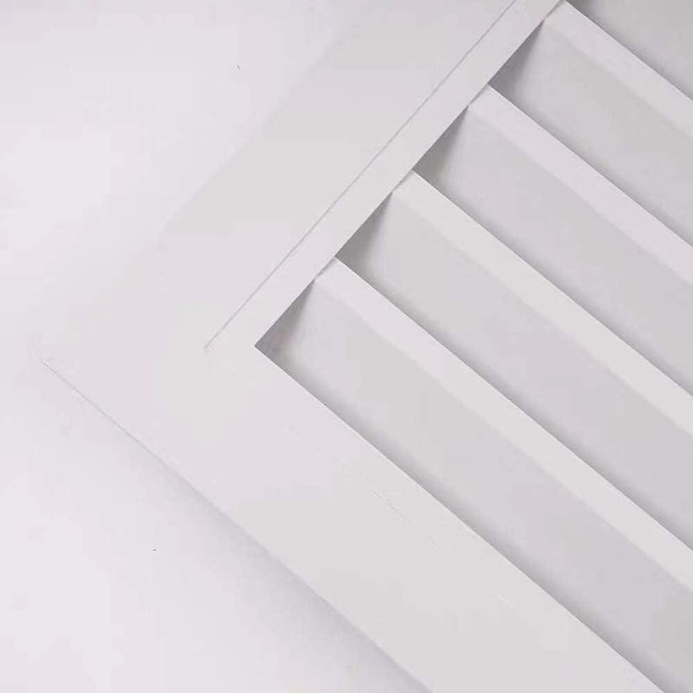 Rejilla de HVAC para controlar el MMJJQWE Cubierta de ventilaci/ón de Aire Acondicionado de aleaci/ón de Aluminio ventilaci/ón de Aire Way Cuchillas curvadas de Aluminio Ajustables -17 /× 17 in