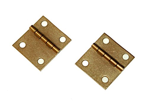 Piano Bench Hinges - Set of 2 - Brass Plated Piano Lid Hardware