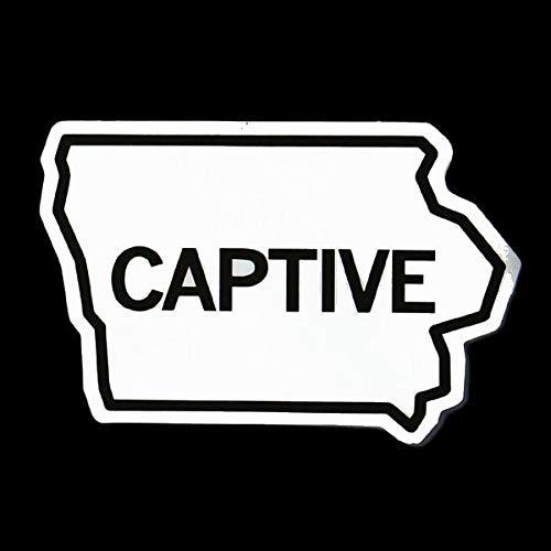 DecalDestination Iowa Captive Decal White Choose Size