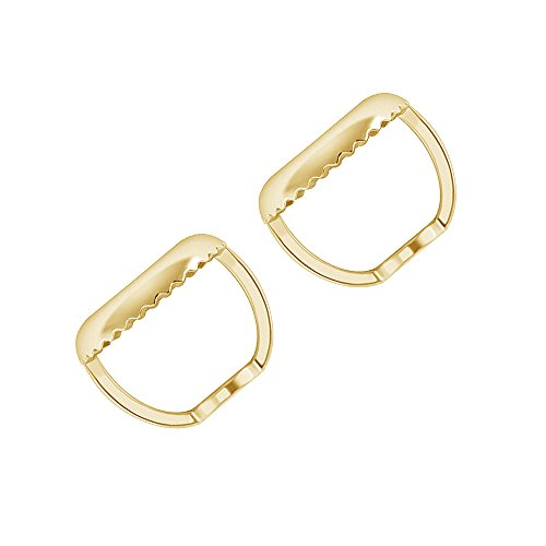 10K Gold Pair Earrings Back Replacement Secure and Comfortable with Ear Locking Screw Back (yellow-gold)