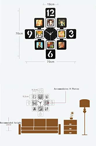 YXMxxm DIY Frame Clock,Modern Design DIY Photo Frame Clock High Density Board Art Pictures Clock - Make Your Own Multi-Photo Clock by YXMxxm (Image #3)