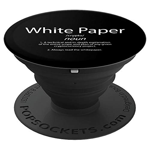 White Paper Definition - Cryptocurrency Blockchain Crypto - PopSockets Grip and Stand for Phones and Tablets