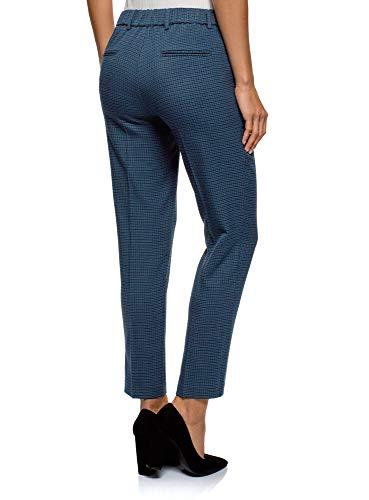2974o Blu Con In Stretti Donna Ultra Elastico Vita Oodji Pantaloni 8wSzOqn