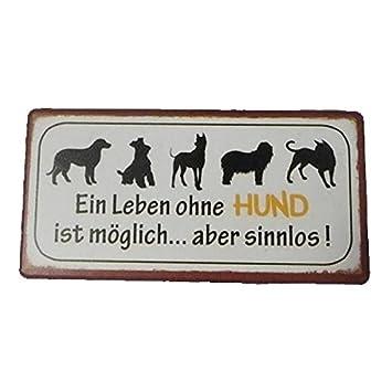 Amazon.de: AS4HOME Kühlschrankmagnet - EIN Leben ohne Hund ...