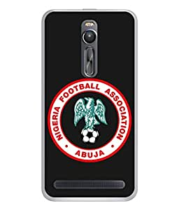 ColorKing Football Nigeria 03 Black shell case cover for Asus Zenfone 2