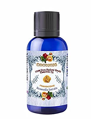 FRANKINCENSE ESSENTIAL OIL 1 oz Organic Pharmaceutical Therapeutic Grade A Wellness Relaxation 100% Pure Undiluted Steam Distilled Natural Aroma Premium Quality Aromatherapy diffuser Skin Hair Body