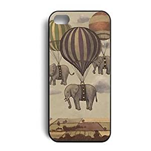YXF Cute Elephant In A Balloon Hard Plastic Back Case Cover Skin for iPhone 5/5S