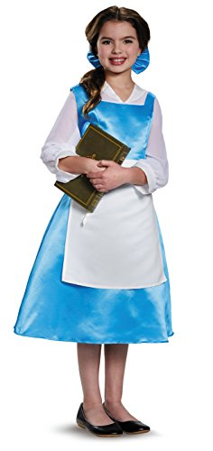 [Disguise Belle Blue Dress Tween Disney Princess Beauty & The Beast Costume, Large/10-12] (Belle Halloween Costumes For Women)