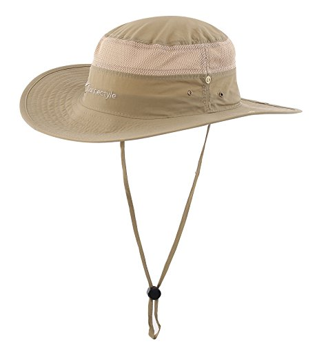 Wide Cap (Connectyle Outdoor Mesh Sun Hat Wide Brim Sun Protection Hat Summer Fishing Hunting Hiking Gardenig Hat)