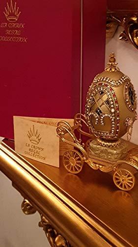 RARE Egg Faberge style egg GOLD Ornate ring box/HANDMADE UNIQUE HANDMADE Egg jewel box Russian style egg/Wedding Egg Russia Faberge style MASTERPIECE Faberge style musical jewelry box Handmade