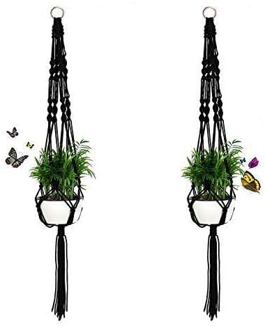 2Pack Plant Hanger Rope Macrame Hanging Planter Holder Basket Flower Pot Jute US
