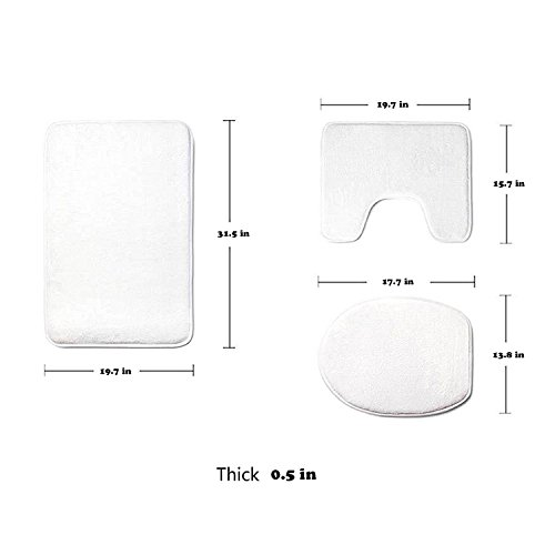 Coolsomejies Household Rose Gold Marble Soft Flannel Non Slip Bathroom Rug Mats Set 3 Pc Pricepulse