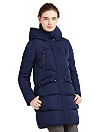 ICEbear Women's Coats Winter Quilted Jackets Long Hooded for Ladies 16G6155