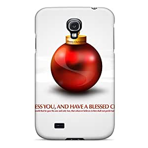 Awesome Design Merry Christmas God Bless You Hard Case Cover For Galaxy S4