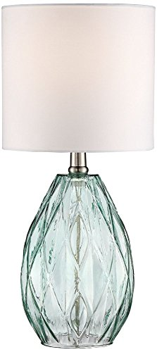 Rita Blue-Green Glass Accent Table Lamp - Accent Lamp Table Lamps