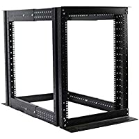 15U 4 Post Open Frame Server Rack Enclosure 19 Adjustable Depth
