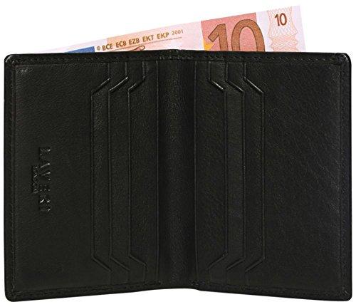 LAVERI Bifold Geldbörse mehrere Kreditkarten-Inhaber Fall schlanke Tasche Case in echtem Leder #1654 Black (Schwarz) yyItX4A8T