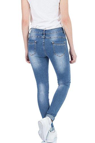 Femme bleu Jeans malucas Skinny Bleu Bleu qwpEA4E